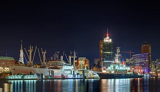 Skyline vom Hamburger Hafen