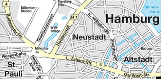 Stadtplan Hamburg