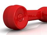 Rotes Vintage-Telefon