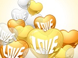 Herz-Luftballons für Hochzeit und Polterabend